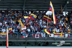 Juan Pablo Montoya fanclub before the qualifying session