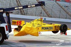 Dan Wheldon's wrecked car