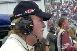 Robert Yates directing from the infield