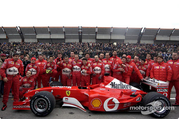 Luciano Burti with the Ferrari team