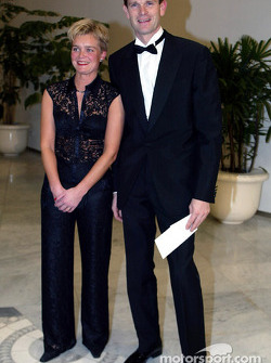 Marcus Grönholm and his wife