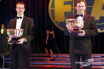 Winning driver, Sébastien Bourdais snd winning team, Christian Horner