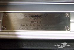 Aston-Martin DB7 plaque
