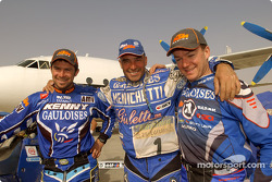 Cyril Despres, Fabrizio Meoni and Richard Sainct
