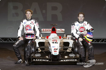 Jenson Button and Jacques Villeneuve