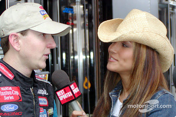 Kurt Busch and Lisa Guerrero