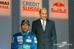Heinz-Harald Frentzen and Peter Sauber
