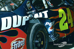 Jeff Gordon's damaged car