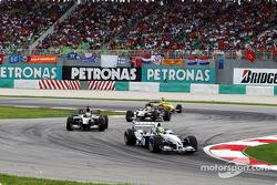 Ralf Schumacher in front of Jos Verstappen