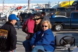 John Andretti with Richard and Linda Petty