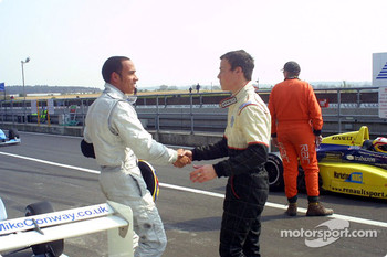 Lewis Hamilton and Alex Lloyd