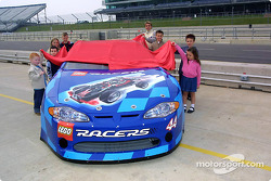 Anthony Swan and kids unveil the Lego Racers car