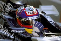 Juan Pablo Montoya on starting grid