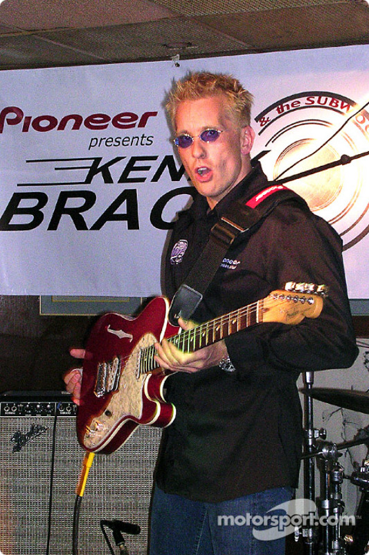 Kenny Brack plays lead guitar at Ike & Jonesy's in downtown Indy with his new band, Kenny Brack ...
