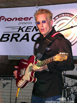 Kenny Brack plays lead guitar at Ike & Jonesy's in downtown Indy with his new band, Kenny Brack and the Subwoofers