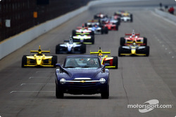 Chevrolet SSR official pace vehicle leads the field under caution