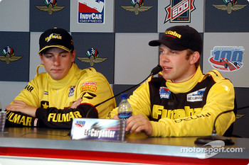Press conference: race winner Ed Carpenter with Mark Taylor