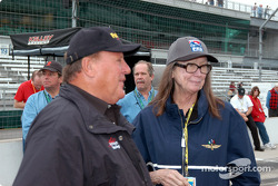 A.J. Foyt and Mari Hulman George
