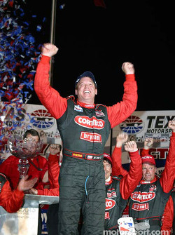 Race winner Al Unser Jr. on victory lane