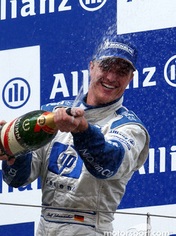 The podium: race winner Ralf Schumacher