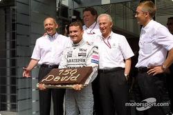 David Coulthard celebrates 150 Grands Prix with McLaren