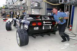 Corvette Racing Gary Pratt pit area