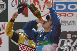 The podium: champagne for Memo Rojas