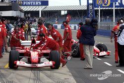 Ferrari pit area