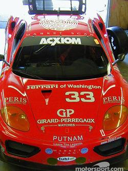 Scuderia Ferrari of Washington garage area