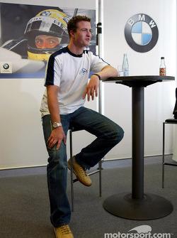 Ralf Schumacher visits Englehorn Sports shop in Mannheim