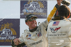 GTS podium: champagne for Kelly Collins