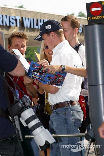 Ralf Schumacher arrives at the track