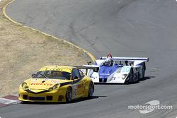 #60 P.K. Sport Porsche 911 GT3RS: Robin Liddell, Alex Davison and #20 Dyson Racing Team Lola EX257/AER: Christopher Dyson, Andy Wallace