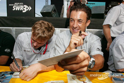 Autograph session: Marcel Fassler and Jean Alesi