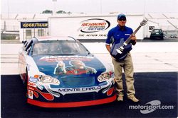 Ron Hornaday is in the spirit with this Gibson guitar for the Rock & Roll-themed NASCAR weekend coming up September 4-6 at Richmond International Raceway