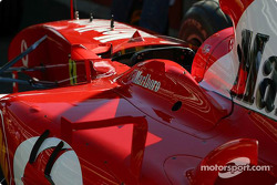 Ferrari in technical inspection line