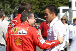 Jean Todt chats with Jean Alesi
