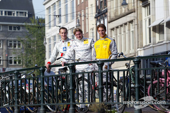 Press conference in Zandvoort: Peter Terting, Christijan Albers and Jeroen Bleekemolen