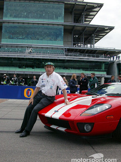 Jackie Stewart with the Ford GT40