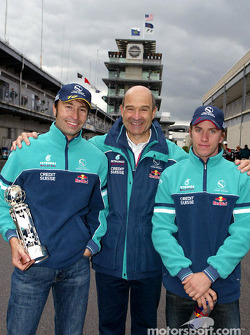 Heinz-Harald Frentzen, Peter Sauber and Nick Heidfeld