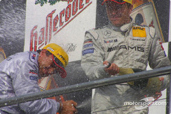 Podium: champagne for Jean Alesi and Marcel Fassler