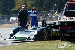 #30 Intersport Racing Riley & Scott MK III C stuck under the tow truck