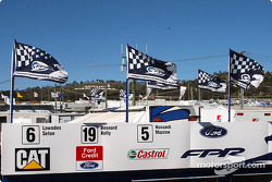 The view from the Ford Performance Racing garages to the top of the Mountain