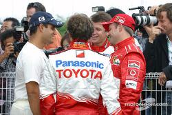 Juan Pablo Montoya, Cristiano da Matta, Olivier Panis and Rubens Barrichello