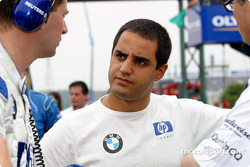 Juan Pablo Montoya on the starting grid