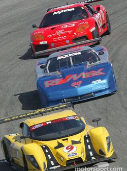 #9 Mears Motor Coach Ford Multimatic: Paul Mears Jr., Joe Varde, #05 Team Re / Max Racing Corvette: John Metcalf, Rick Carelli, David Liniger, and #33 Scuderia Ferrari of Washington Ferrari 360GT: Cort Wagner, Brent Martini