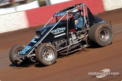 Brandon Lane recovers to finish second in Trophy Dash