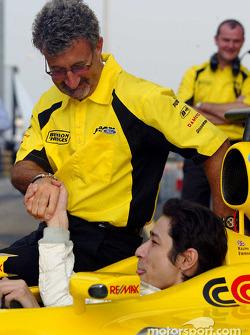Eddie Jordan with Joseph Rosa-Merszei