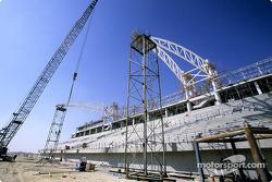 The Bahrain International Circuit construction site