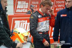 Olivier Beretta on the starting grid